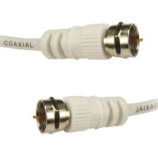 New White Satellite F Connector Sky+HD Extension Coaxial Cable Lead TV Wire