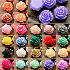 15/30Pc Beauty Resin Flowers Cameos Fit Cabochons Buttons Settings DIY Flatback