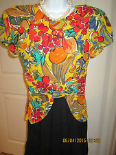 "Multi Colored Dress by ""Phoebe Petites"" - Cap sleeves Size 8P - New without tags"