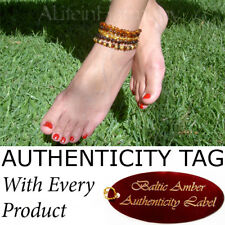 Certified Baltic Amber ADULT ANKLET natural health