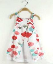 Size 2,3,4,5 White Colourful Floral Girls Dress