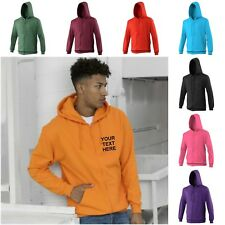 NEW AWDis ZOODIE FULL ZIP MENS WOMENS ZIPPED SWEATSHIRT JACKET PERSONALISED