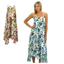 Gorgeous MAXI DRESS NEW 100% COTTON Lined Womens Size 10 12 14 Spring Floral