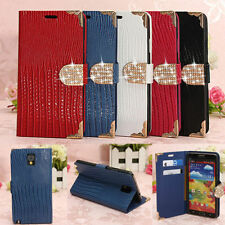 Bling Flip PU Leather Wallet Case Cover Stand For Samsung Galaxy Note 3 N9000