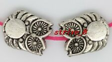 15/60/300pcs Tibetan Silver two-sided Owl Jewelry Charms DIY Spacer Beads 10x8mm