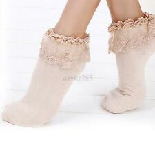 Cute Vintage Lace Ruffle Frilly Ankle Socks Fashion Ladies Girls Retro Stock W12