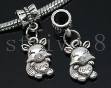 Lot 6/30/150pcs Tibetan Silver Wolf Bulk Lots Dangle European Charms Bracelet