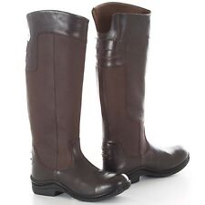 TOGGI COVENT HORSE RIDING BOOTS IN BITTER CHOCOLATE COLOUR - FULL GRAIN LEATHER
