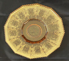 IMPERIAL GLASS OHIO 8 INCH ZODIAC ASTROLOGICAL LUNCHEON PLATE