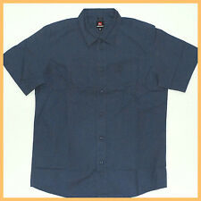 QUIKSILVER Mens Shirt *Size: M* BLUE Short Sleeve Authentic AUSSIE SELLER