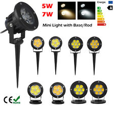 5W 7W LED Outdoor Spotlight Path Light Yard Garden Floodlight Lamps Energy Save
