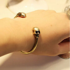 Metal Alloy Gothic Punk Rock Vintage Skull Bangle Cuff Bracelet Christmas Gift