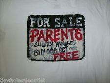 "Boys Mens Humorous Graphic T-Shirt ""For Sale Parents Buy One Get One Free"" XL 3X"