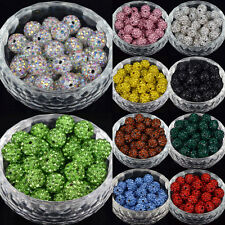 20Pcs Czech Crystal Rhinestones Pave Clay Round Disco Ball Spacer Beads Pick