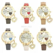 Fashion Classic Faux Leather Wrist Watch Ladies Women Analog Quartz Watch B72