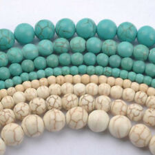 20/100Pcs Howlite White/Blue Turquoise Gemstone Round Spacer Beads 4/6/8/10mm