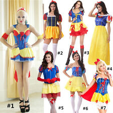 7 Styles Adult Snow White Princess Halloween Costume Fancy Party Dress