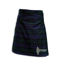 MENS SCOTTISH TARTAN DELUXE  8YD FULL KILT - BLACK WATCH - RANGE OF SIZES!
