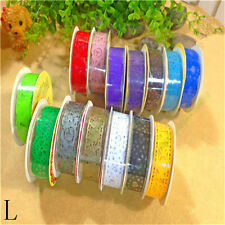 Cute Lace Roll Paper Decorative Sticky Self Adhesive Paper Masking Tape DIY 1 pc