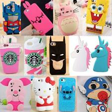 Cute 3D Soft Silicone Skin Case Cover For iPhone 4S/5 5S 5G 5C  6 6S 6S Plus
