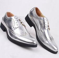 Fashion Mens Brogue Medallion casual Oxfords Wing Tip Lace Up Dress formal Shoes
