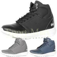 Mens Crosshatch Hi Top Mid Boots Casual Lace Up High Ankle Shoes Size