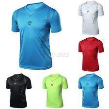 Men's Boys Casual Quick Dry Wicking T-shirts Sports Fitness Gym Shirt Tops M-XXL