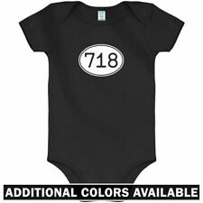 Area Code 718 One Piece - Brooklyn NYC Queens Baby Infant Creeper Romper NB-24M