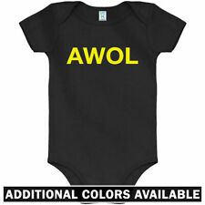 AWOL One Piece - Army Marine Navy Military Air Force Baby Infant Romper NB-24M
