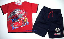 Brand new Cars McQueen tshirt cotton top t-shirt 3/4 canvas pants Outfit Set
