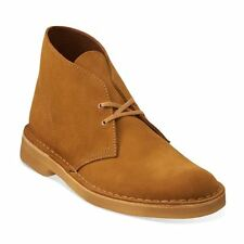 Men's Shoes Clarks Desert Boot Lace Up Chukka Boots 09885 Bronze Suede *New*