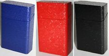 Tin Metal Replacement Tobacco Cigarette Box Black Blue Red Vintage Retro Style
