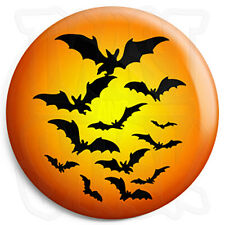 Halloween Bats - 25mm Trick or Treat Button Badge with Fridge Magnet Option