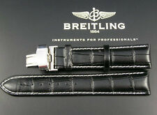 LEATHER WATCH STRAP FOR BREITLING SUPEROCEAN NAVITIMER COLT BENTLEY NO BUCKLE