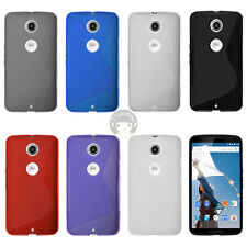 S Line Wave Soft Rubber TPU Gel Cover Skin Case For Motorola Google Nexus 6