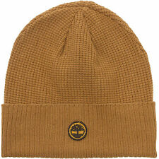 Timberland Mens Cotton Waffle Knit Ribbed Cuff Watch Cap Beanie Hat
