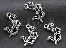 10/40/200pcs Tibetan Silver Beautiful Skeleton Jewelry Charms Pendant 20x13mm