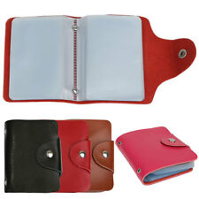 New 26 Cards PU Leather Credit ID Business Card Holder Pocket Wallet
