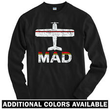 Fly Madrid MAD Airport Long Sleeve T-shirt LS - Real Spain Iberia - Men / Youth