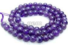 SALE Small 6mm Round natural High Quality Amethyst gemstone beads strand 15'-541