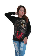 Korn Voodoo Doll Rock Band Music Womens Long Sleeve T-Shirt Black Size S,M,L