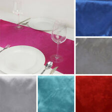 "12 pcs SATIN 14x108"" Embossed Table RUNNERS Wedding Party Decorations SALE"