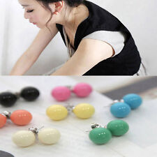 2 Pair Womens Cute Candy Colourful Disco Round Ball Earrings Ear Stud Xmas Gift
