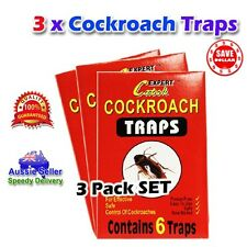 3packs 18 Traps New Tomcat Glue Sticky Cockroach Bait Insect Pest Control Bug