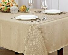 MONARCH COLLECTION TEXTURED JACQUARD FABRIC TABLECLOTH, RECTANGLE, ROUND - EDITH