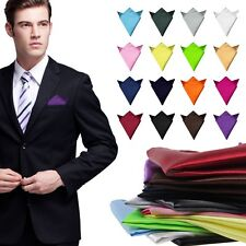Wedding Party Men Solid Color Pocket Square Handkerchief kerchief Towel Hanky