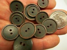 New lots Copper/Bronze Finish Metal Buttons size 7/8 inch 13/16 11/16 5/8 (#CP3)