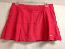 Nike Dri Fit Side Pleat Tennis Active Skort M Coral  #523539   NWT