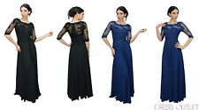 Elegant Modest Mother of the Bride Groom Bohemian Chiffon Plus Size Long Dress