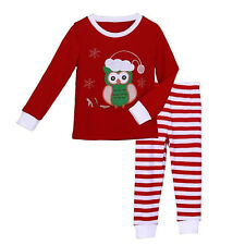 Baby Girls Clothing Set Cartoon T-Shirt + Striped Pants Casual Chirstmas Outfits